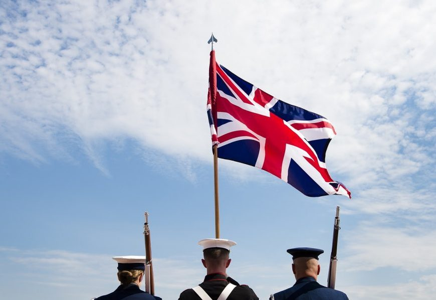 British army soldiers under the union jack