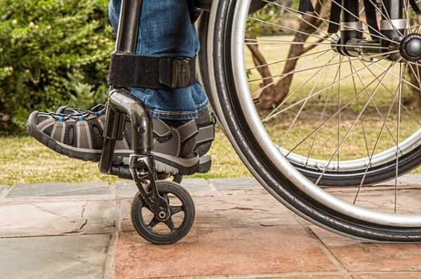 Personal injury resulting in wheelchair use